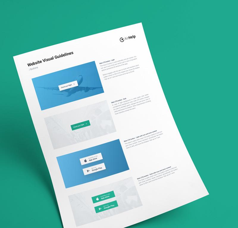 AirHelp website design guidelines