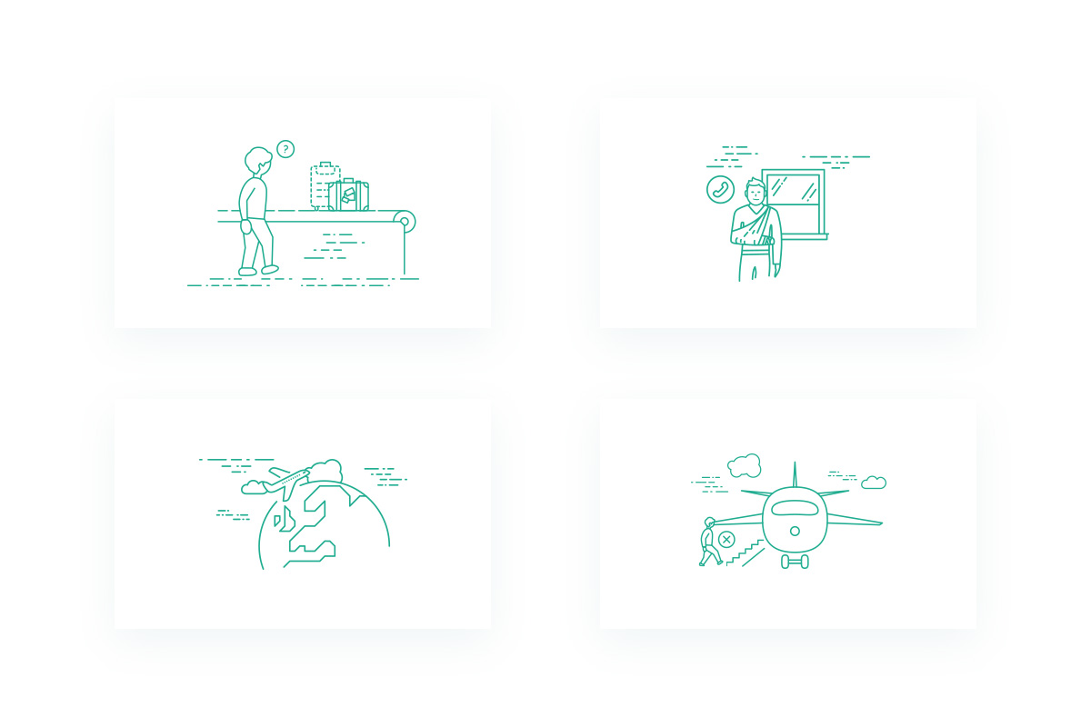 Illustrations we created for AirHelp