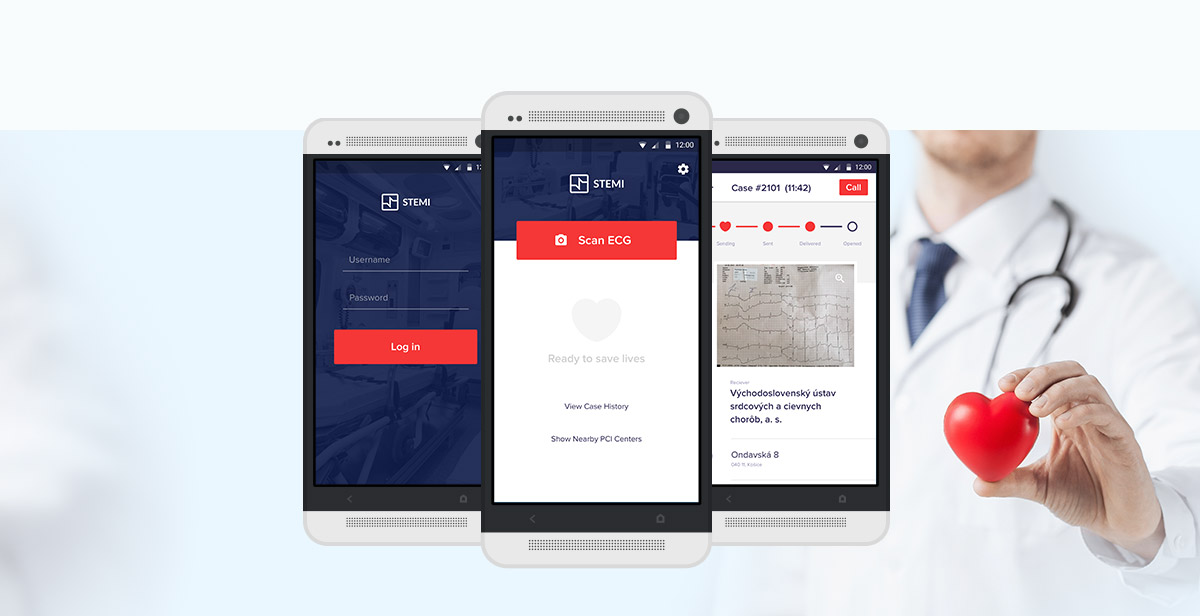 STEMI app design showcase